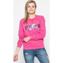 Pepe Jeans - Bluza. Różowe bluzy z nadrukiem damskie Pepe Jeans, l, z bawełny, bez kaptura. W wyprzedaży za 179,90 zł.