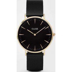 Zegarki damskie: Zegarek damski Mesh Gold Black Black Cluse La Boheme CL18117