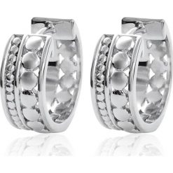 Biżuteria i zegarki: Srebrne kolczyki-kreole
