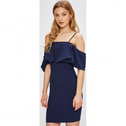 Miss Poem - Sukienka. Niebieskie sukienki mini Miss Poem, na co dzień, m, z elastanu, casualowe, dopasowane. W wyprzedaży za 129,90 zł.