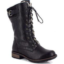 """Buty zimowe damskie: Kozaki """"Delphia"""" w kolorze czarnym"""