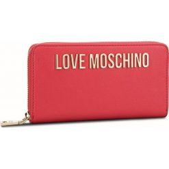Duży Portfel Damski LOVE MOSCHINO - JC5593PP06KU0500 Rosso. Czerwone portfele damskie marki Love Moschino, ze skóry ekologicznej. Za 429,00 zł.