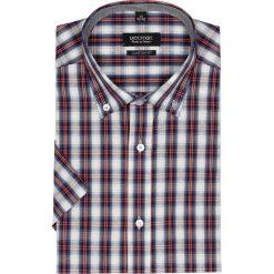 Koszula bexley 1833 krótki rękaw custom fit czerwony. Brązowe koszule męskie marki QUECHUA, m, z elastanu, z krótkim rękawem. Za 29,99 zł.