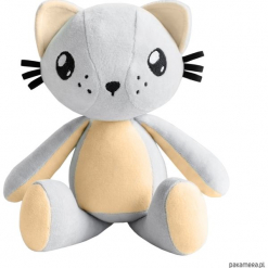 Kot przytulanka - Poofy Cat PLUSHEE szaro-morela. Szare przytulanki i maskotki Pakamera, z bawełny. Za 129,00 zł.