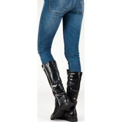 Kozaki oficerki Black. Szare buty zimowe damskie STYLE SHOES, ze skóry ekologicznej. Za 149,00 zł.