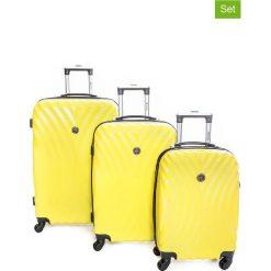 """Walizki: Walizki (3 szt.) """"Sheraton"""" w kolorze żółtym"""