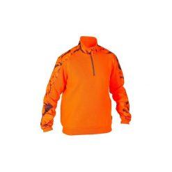 Swetry klasyczne męskie: Sweter myśliwski 500 fluo
