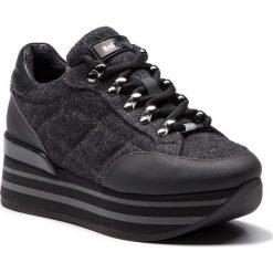 Sneakersy BALDININI - 948464TSALF000100FXX Saha Nero/Lana Grig/Fag Ner. Czarne sneakersy damskie Baldinini, z materiału. Za 1849,00 zł.