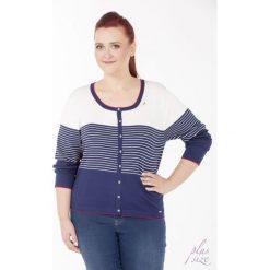 Swetry klasyczne damskie: Sweter w marynarskim stylu Plus