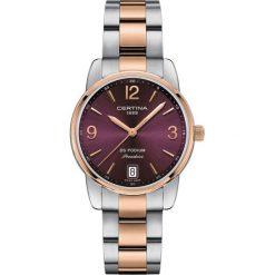 RABAT ZEGAREK CERTINA DS PODIUM C034.210.22.427.00. Czerwone zegarki damskie CERTINA, ze stali. W wyprzedaży za 1575,20 zł.