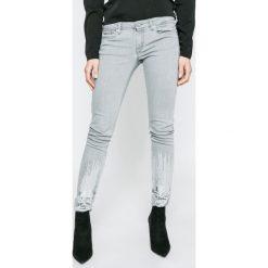 Pepe Jeans - Jeansy Lola Bling. Szare jeansy damskie rurki Pepe Jeans, z bawełny. W wyprzedaży za 299,90 zł.