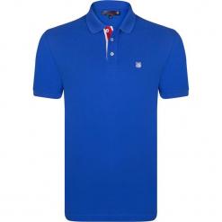 Koszulka polo w kolorze niebieskim. Niebieskie koszulki polo marki GALVANNI, l, z okrągłym kołnierzem. W wyprzedaży za 108,95 zł.