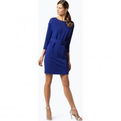 Marie Lund - Sukienka damska – Coordinates, niebieski. Niebieskie sukienki z falbanami Marie Lund, w paski, dopasowane. Za 449,95 zł.