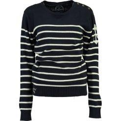 """Sweter """"Figue"""" w kolorze granatowo-kremowym. Białe swetry klasyczne damskie Geographical Norway Women & Kids, l, z bawełny. W wyprzedaży za 108,95 zł."""