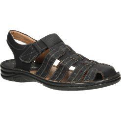 Czarne sandały na rzep Casu FY5615. Czarne sandały męskie Casu. Za 59,99 zł.