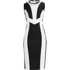 Sukienki hiszpanki: Karen Millen MONOCHROME TAILORED DRESS Sukienka etui white