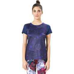 Koszulka funkcyjna w kolorze fioletowo-niebieskim. Niebieskie bluzki sportowe damskie Desigual Sport, xs. W wyprzedaży za 121,95 zł.