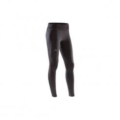 Ciepłe legginsy do biegania RUN WARM+ damskie. Czerwone legginsy marki DOMYOS, z elastanu. Za 89,99 zł.