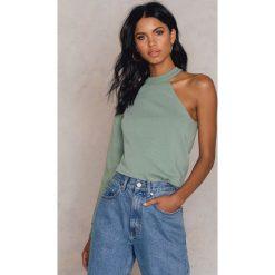 Bluzy damskie: NA-KD Bluza na jedno ramię – Green