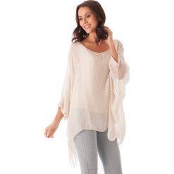 Bluzki asymetryczne: Koszulka w kolorze beżowym