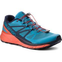 Buty SALOMON - Sense Ride 404848 29 V0 Fjord Blue/Cherry Tomato/Navy Blazer. Niebieskie buty do biegania męskie marki Salomon, z materiału, na sznurówki. W wyprzedaży za 419,00 zł.