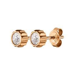 Kolczyki damskie: Kolczyki w kolorze złotym z kryształkami Swarovski