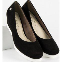 Buty ślubne damskie: Zamszowe czółenka damskie FILIPPO czarne