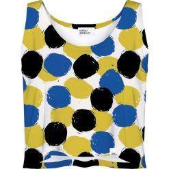 Bluzki, topy, tuniki: Colour Pleasure Koszulka damska CP-035 4 żółto-niebieska r. XS-S