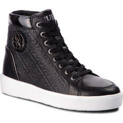 Sneakersy GUESS - FLACE3 LEP12 BLACK. Czarne sneakersy damskie Guess, z materiału. Za 629,00 zł.