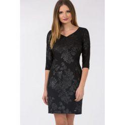 Sukienki: Wieczorowa sukienka z ornamentem