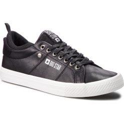 Tenisówki BIG STAR - BB174009 Black. Czarne tenisówki męskie marki BIG STAR, z gumy. Za 119,00 zł.