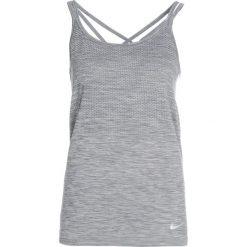 Nike Performance DRIFIT KNIT Koszulka sportowa cool grey/heather/reflective silver. Szare topy sportowe damskie marki Nike Performance, xl, z materiału. W wyprzedaży za 155,35 zł.