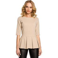 GABRIELLE Bluzka z kontrafałdą - beżowa. Brązowe bluzki z odkrytymi ramionami Moe, z dresówki. Za 99,00 zł.