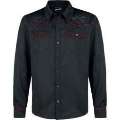 Banned Alternative Outlaw Western Koszula czarny. Czarne koszule męskie na spinki marki Cropp, l. Za 199,90 zł.