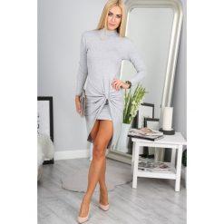 Sukienki: Jasnoszara Sukienka 3167