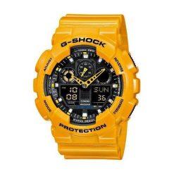 Zegarek Casio Męski GA-100A-9AER G-Shock żółty. Żółte zegarki męskie CASIO. Za 406,99 zł.