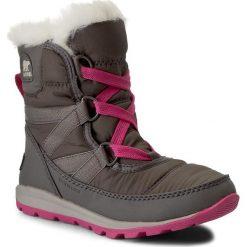 Kozaki dziewczęce: Śniegowce SOREL – Childrens Whitney Short Lace NC1897 Quarry/Pink Ice 052