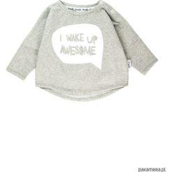 Bluza I wake up awesome - szary. Szare bluzy dziewczęce rozpinane marki Pakamera, z bawełny. Za 60,00 zł.