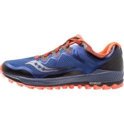 Saucony PEREGRINE 8 Obuwie do biegania Szlak blue/black/vizired. Niebieskie buty do biegania męskie Saucony, z materiału. Za 569,00 zł.