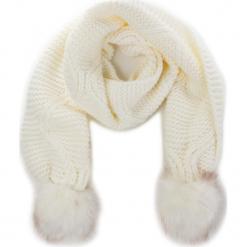 Szal GUESS - Not Coordinated Wool AW6800 WOL03 OFF. Białe szaliki damskie Guess, z aplikacjami, z materiału. Za 229,00 zł.
