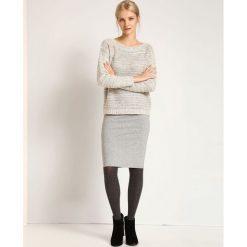 Swetry damskie: SWETER DŁUGI RĘKAW DAMSKI KLASYCZNY, LUŹNY