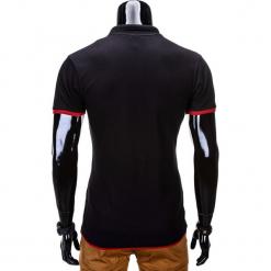 KOSZULKA MĘSKA POLO BEZ NADRUKU S758 - CZARNA. Czarne koszulki polo Ombre Clothing, m, z nadrukiem. Za 39,00 zł.