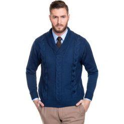 Sweter ARSENIO 14-44CS. Czerwone swetry klasyczne męskie marki Cropp, l, ze splotem. Za 229,00 zł.