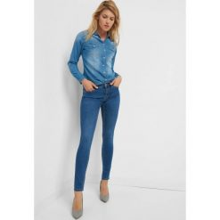 Jeansy skinny. Brązowe jeansy damskie marki Orsay, s, z dzianiny. Za 89,99 zł.