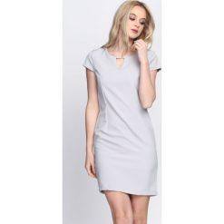 Sukienki: Szara Sukienka Just Pretending