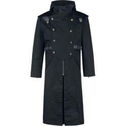Płaszcze przejściowe męskie: Vintage Goth Gothic Herrenmantel Walker Płaszcz czarny