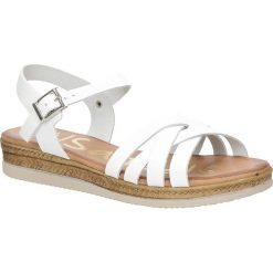 Sandały skórzane na platformie Oh My Sandals 3443. Szare sandały damskie marki Oh My Sandals, na platformie. Za 129,99 zł.