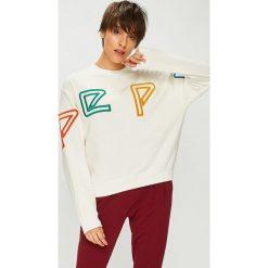 Pepe Jeans - Bluza Colette. Szare bluzy z nadrukiem damskie Pepe Jeans, l, z bawełny, bez kaptura. Za 359,90 zł.
