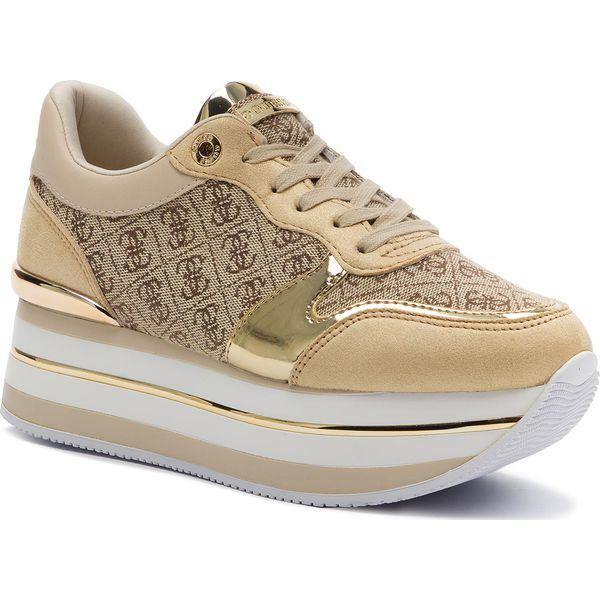 Sneakersy GUESS Hinders2 FL7HN2 FAL12 BEIGEBROWN
