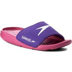 Klapki SPEEDO - Atami Core Sld Jf 8-07419B549 Pink/Purple. Fioletowe klapki dziewczęce marki Speedo, z tworzywa sztucznego. Za 69,99 zł.